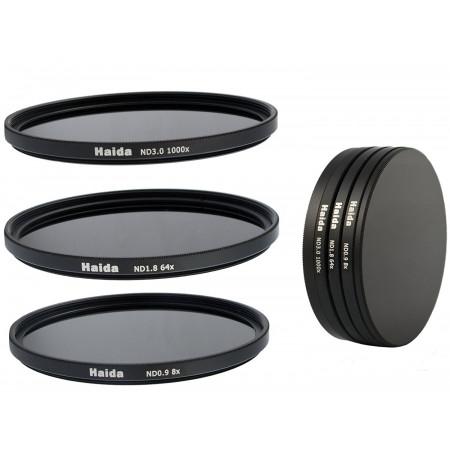 3 Filtros ND Haida 58mm Densidad neutra ND0.9 (8x) ND1.8 (64x) ND3.0 (1000x)