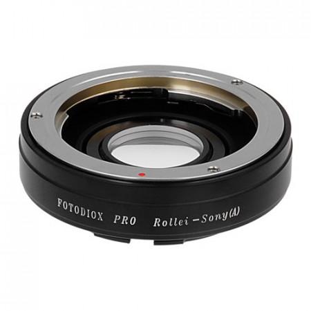 Adaptador Fotodiox Pro Rollei QBM a Sony A - Con lente para enfoque a infinito