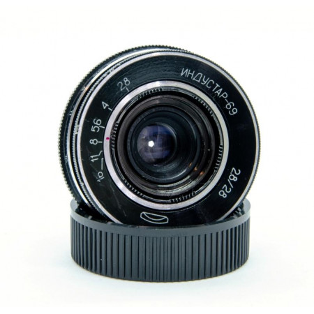 INDUSTAR-69 28mm f2,8 Montura M39 Lente vintage