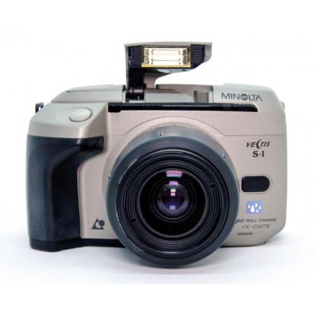 Minolta Vectis S-1 APS SLR con kit 28-56mm F4-5.6 / 56-170mm F4,5-5,6