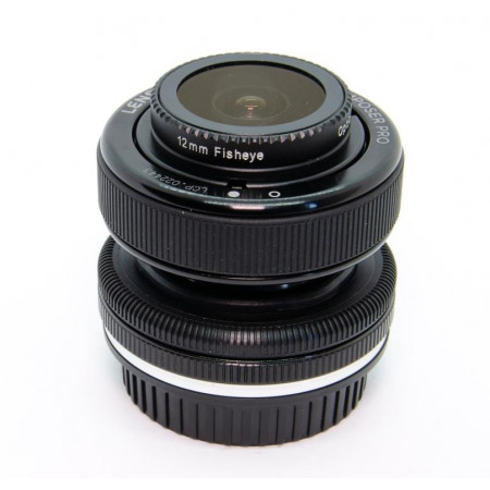 LensBaby Composer Pro Double Glass + 12mm Fisheye Optic Swap System p/ Canon EF