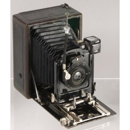 Ernemann Heag II series II con Detektiv Aplanat 105mm f/6,8 Camara de fuelle